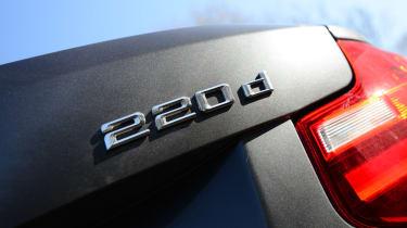 BMW 220d Convertible badge
