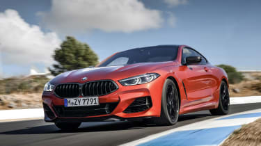 BMW 8 Series - track front action