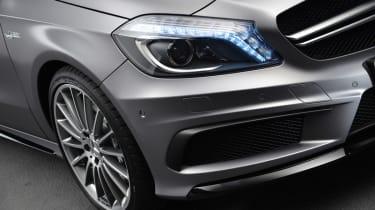 Mercedes A45 AMG wheel detail