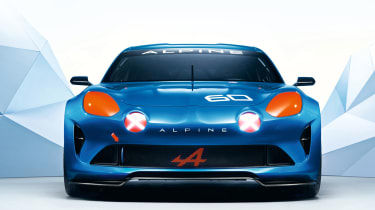 Renault Alpine - head on