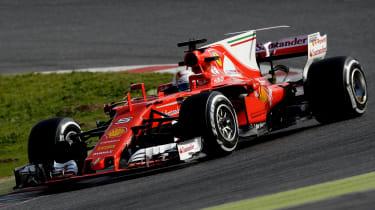 Formula 1 2017 - Ferrari front cornering