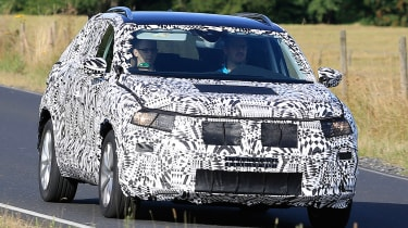 Volkswagen Polo SUV - spy shot front tracking