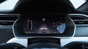 Tesla Model S P100D - dials