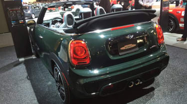 MINI John Cooper Works Convertible - New York rear three quarter