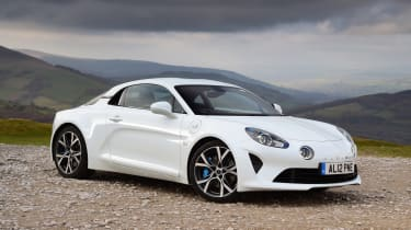 Alpine A110 front three-quarter