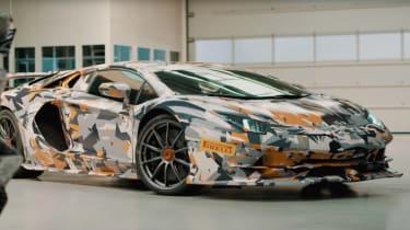 Lamborghini Aventador SVJ teaser screen grab