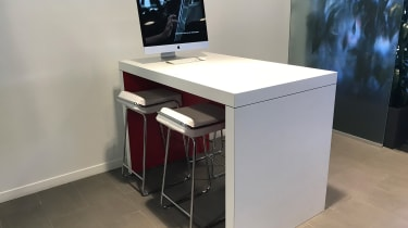 Tesla Factory Tour - desk