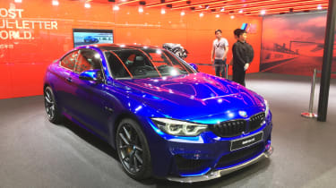 New BMW M4 CS show - front