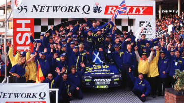 colin mcrae wins the world rally championship motorsport moments auto express colin mcrae wins the world rally