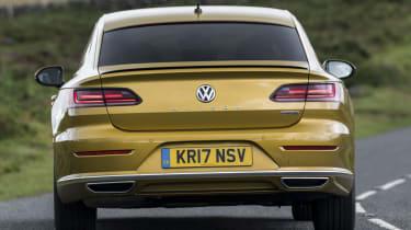 Volkswagen Arteon review - gold rear corner
