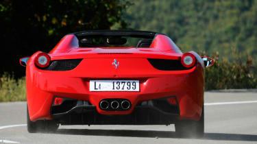 Ferrari 458 Spider rear three-quarters