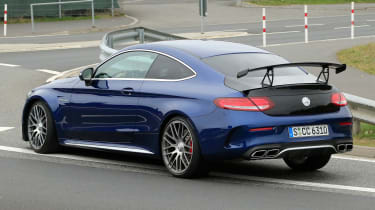 Mercedes-AMG C 63 R - spy shot road rear cornering