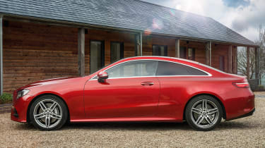 Mercedes E 400 d  Coupe - side static
