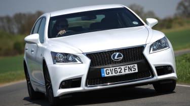 Lexus LS front cornering
