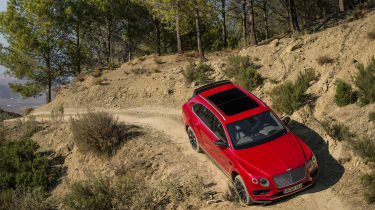 Bentley Bentayga luxury SUV offroad hill