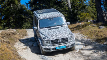 Mercedes G-Class prototype - front above