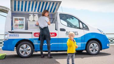 Nissan ice cream van - side
