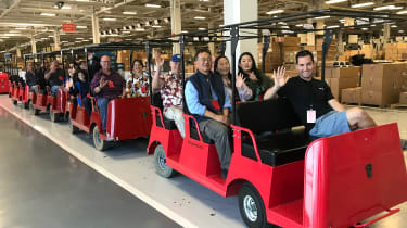 Tesla Factory Tour - owners