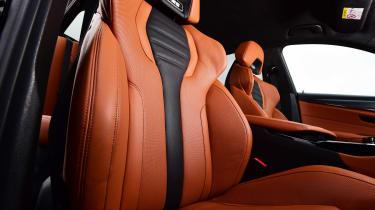BMW M5 seat close shot