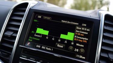 Porsche Cayenne - infotainment screen