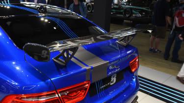 Jaguar XE SV Project 8 - blue Goodwood rear detail