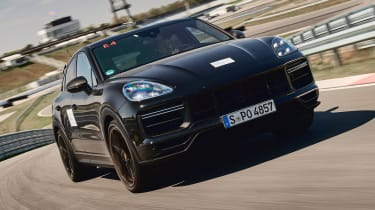 Porsche Cayenne Coupe prototype - front tracking