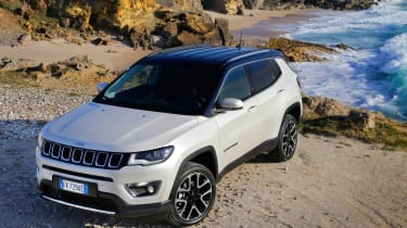 2017 Jeep Compass - parked beach