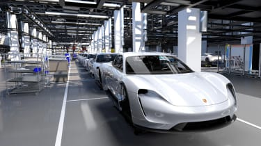 Porsche Taycan factory