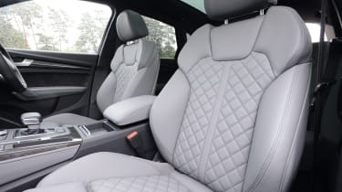 New Audi SQ5 2017 review UK - front seats