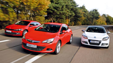 Vauxhall Astra GTC vs rivals