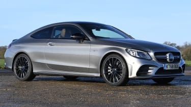 mercedes-amg c 43 coupe static front quarter