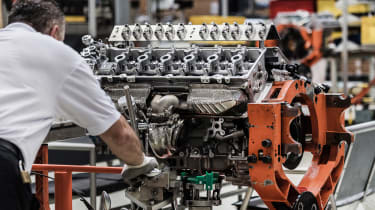 Aston Martin 5.2-litre twin-turbo V12 engine - build