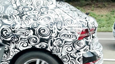 2018 Audi Q3 spy shot rear haunch