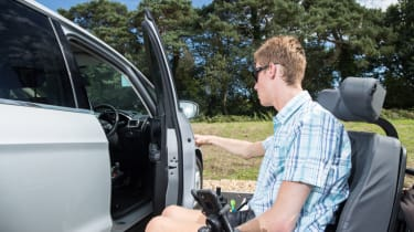 Disability driving feature - door