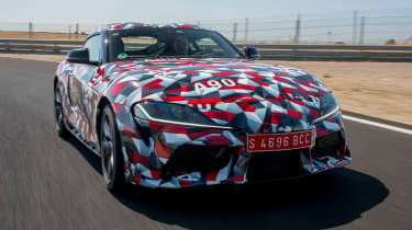 Toyota Supra prototype track - front tracking