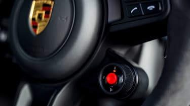 Porsche Cayenne Coupe Turbo GT - steering wheel controls