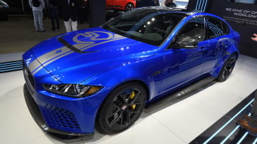 Jaguar XE SV Project 8 - blue Goodwood front