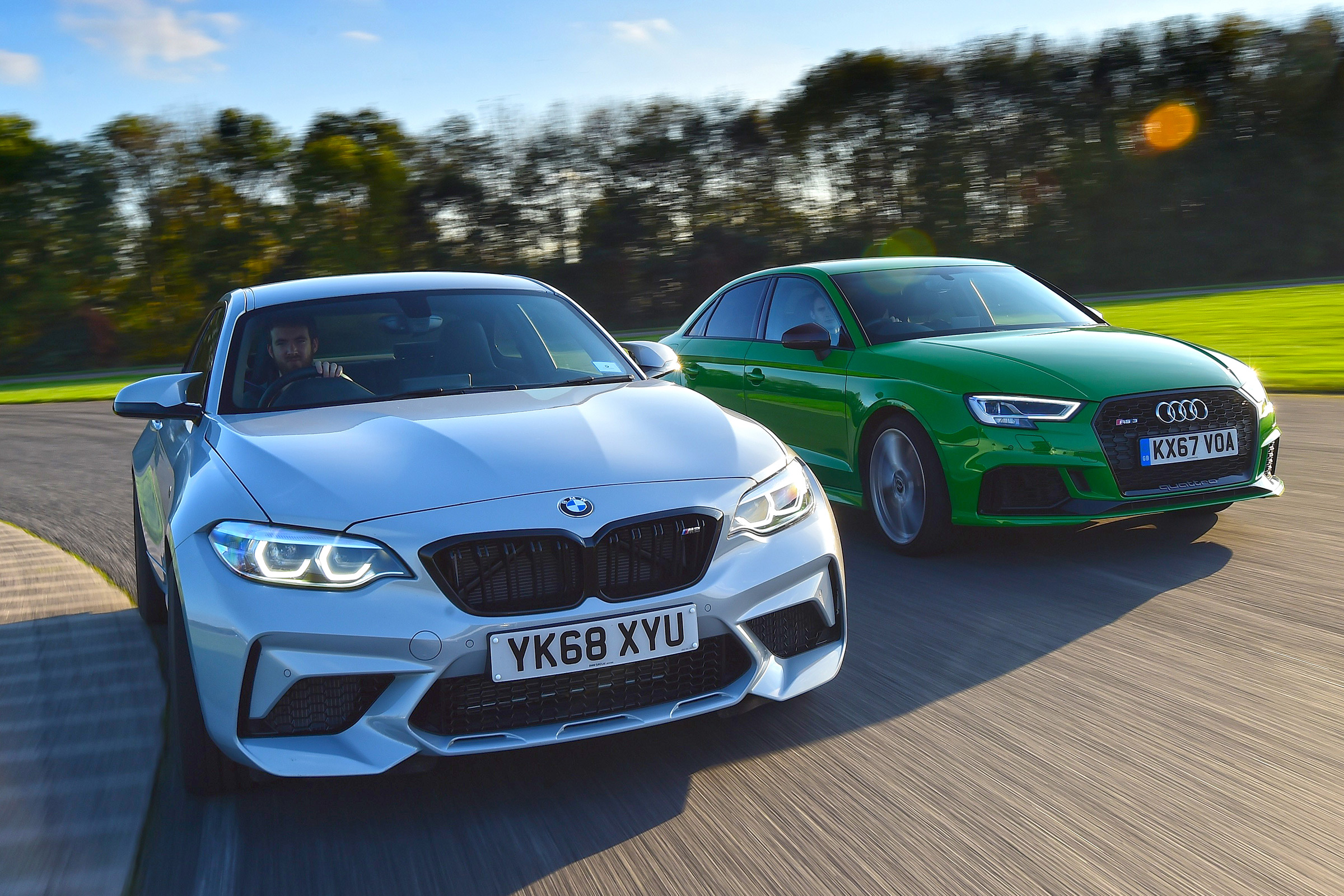 Bmw M2 Competition Vs Audi Rs 3 Saloon Auto Express