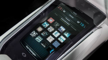 Skoda VisionS concept - infotainment console