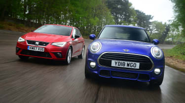 MINI Cooper vs SEAT Ibiza - header