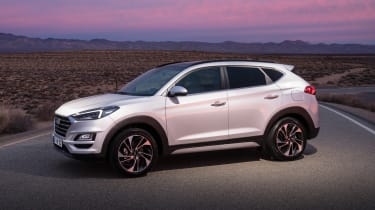 Facelifted Hyundai Tucson - front/side