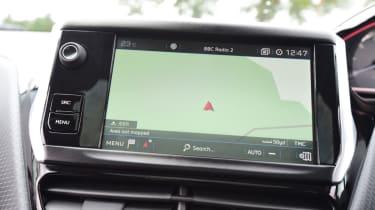 Peugeot 2008 - sat-nav screen