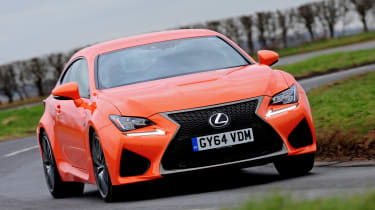 Lexus RC F action