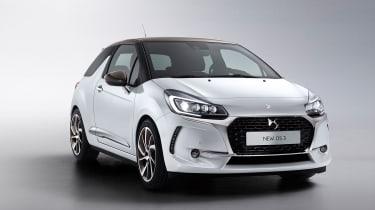 DS 3 hatchback - front quarter white