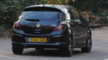 Vauxhall Corsa Black Edition rear cornering