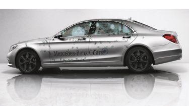 Mercedes S-Class S-Guard profile bullet test