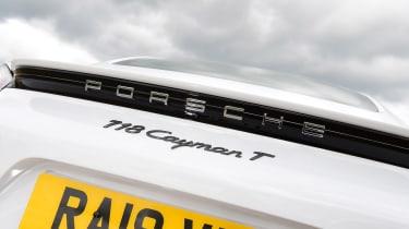 Porsche 718 Cayman T - rear badge