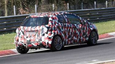 Toyota Yaris spies - rear cornering