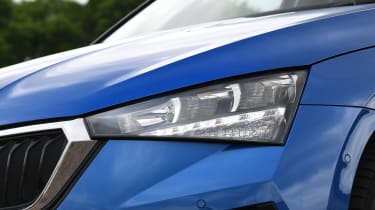 Skoda Scala infotainment headlight
