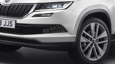 Skoda baby crossover - front detail (watermarked)